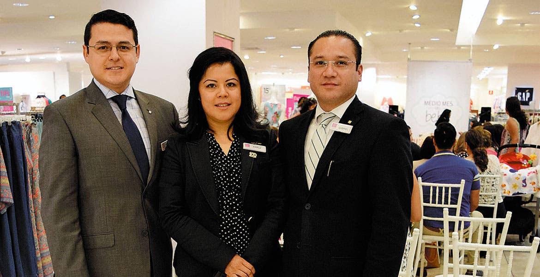 Mauricio Flores, Karla Hernández y Gabriel Pereyra.