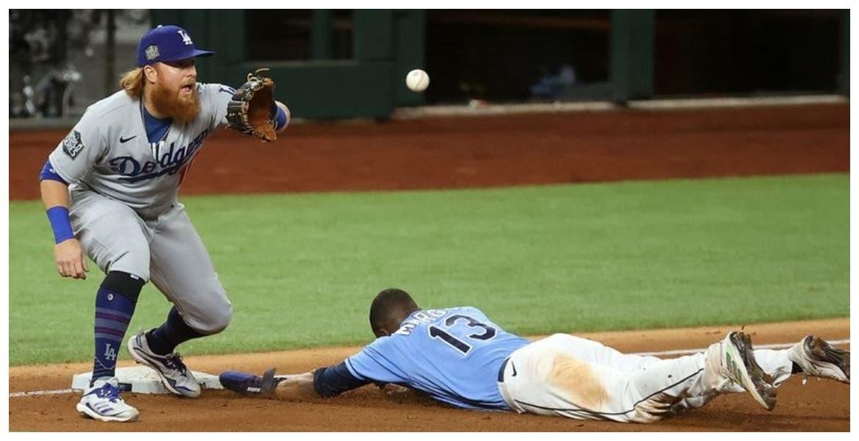 Los Dodgers de los Ángeles se impusieron 4 carreras a 2 a Rays de Tampa Bay