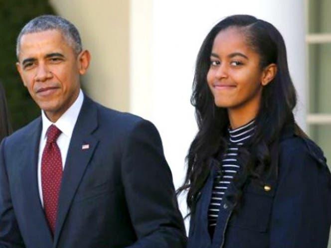 Hacen enojar a Malia Obama