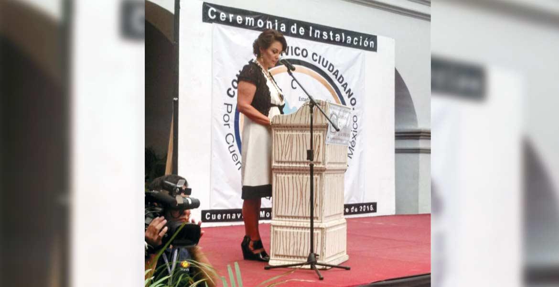 Mensaje. La historiadora María Helena Noval habló de unidad, de participación y trabajo ante el Consejo Cívico.