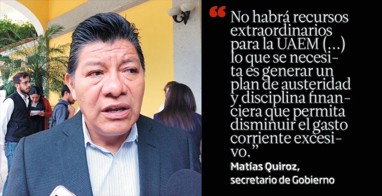 MORELOS: Matías Quiroz, secretario de Gobierno
