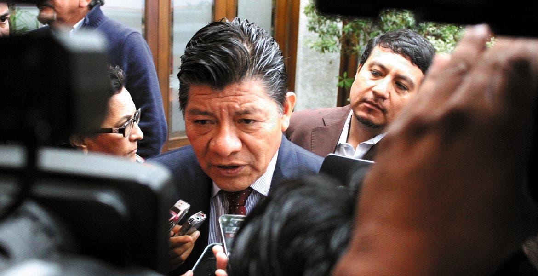 Enlace. Matías Quiroz dijo que ya se establecen canales de comunicación con transportistas.
