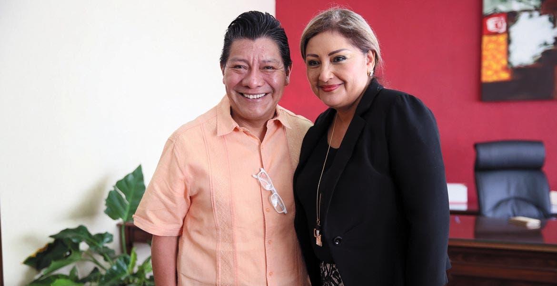 Encuentro. El secretario de Gobierno y la presidenta del TSJ, Matías Quiroz y María del Carmen Cuevas, oactan trabajo transparente.
