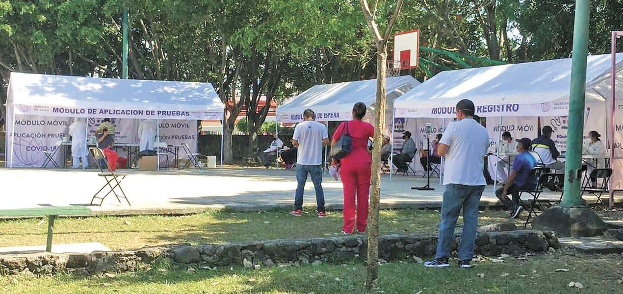 Operan 8 módulos de pruebas COVID en Morelos