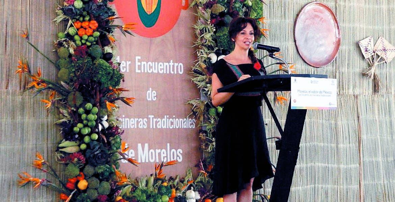 Inauguración. Mónica Reyes Fuchs en el discurso de apertura.