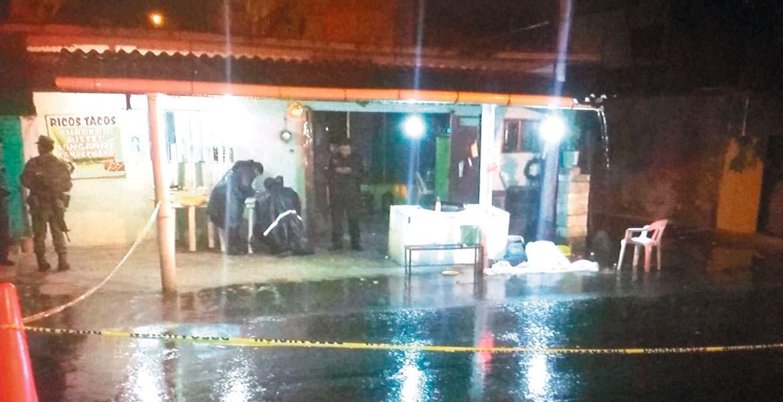 Atentado. Jorge Mejía Landa fue asesinado a balazos, tras ser emboscado cuando estaba afuera de la taquería 'El Cebollón'.