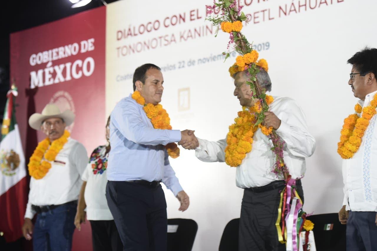Ofrece AMLO apoyo total a Morelos