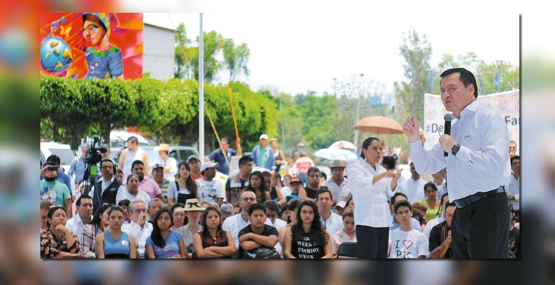 Mensaje. El secretario de Gobernación, Miguel Ángel Osorio Chong, aseguro que es turno de que la sociedad se involucre en el rescate de espacios públicos.