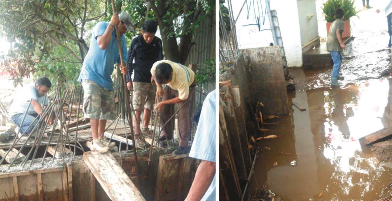 Obras. Escombro arrastrado ocasionó inundaciones en viviendas de Chamilpa y daños a tres vehículos.