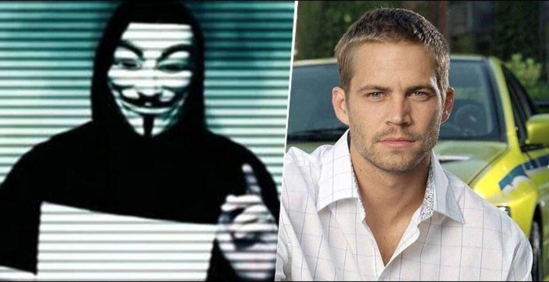 El fallecimiento de Paul Walker no fue accidente: Anonymous