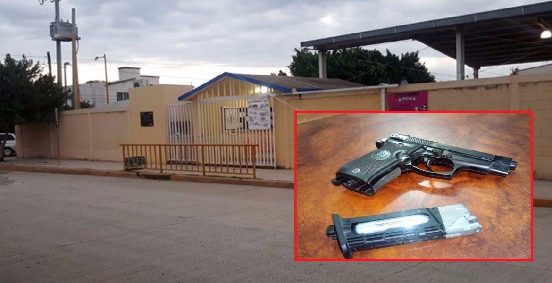 Ataca niño a maestro con arma en Tamaulipas