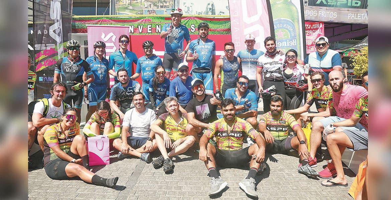 Ciclistas participaron en una rodada de 120 km.