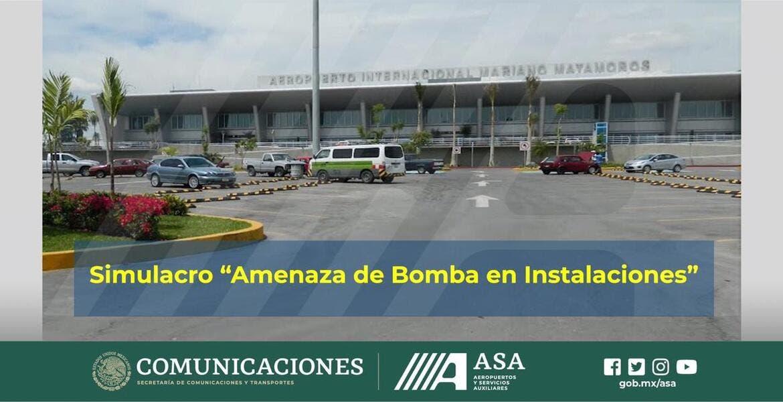Realizarán simulacro por amenaza de bomba en aeropuerto de Cuernavaca