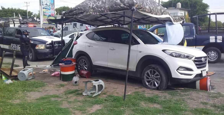 Balacera y persecución en Cuernavaca tras robo de camioneta