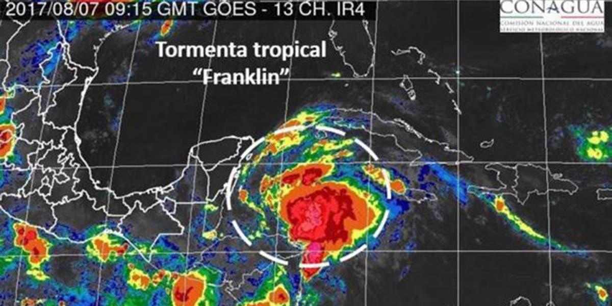 Veracruz, en alerta por llegada de 'Franklin'