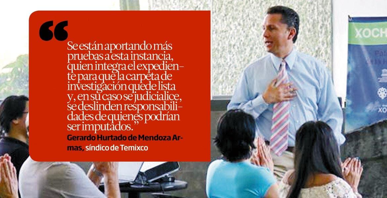 Gerardo Hurtado de Mendoza Armas, síndico de Temixco