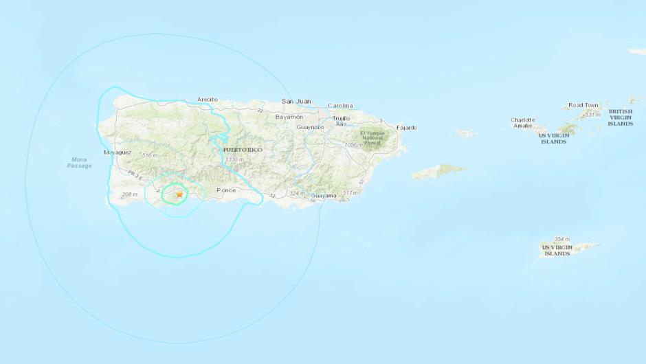Sismo de magnitud 5,0 en Puerto Rico se registró este sábado