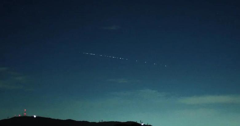 Lossatélites de SpaceX volvieron a verse envarias partes del mundo