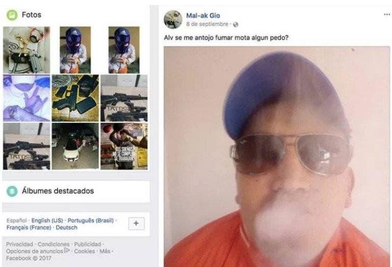 Reos presumen privilegios en Facebook