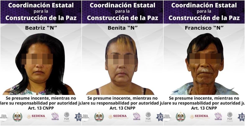 Tres detenidos más por el secuestro de una familia de Tlaltizapán