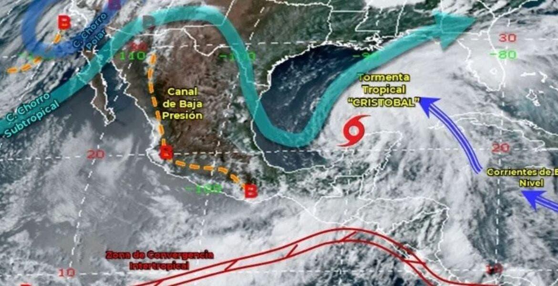 Tormenta Cristobal traerá fuertes lluvias al sureste de México