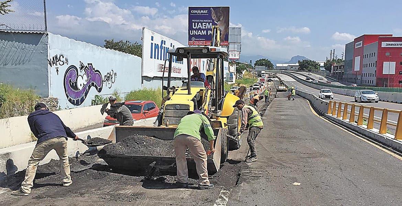 Hay quejas por arreglos del Paso Express Cuernavaca