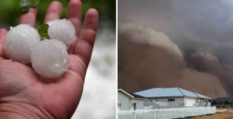 Tragedias bíblicas son las que vive Australia, ahora azotada por tormenta de polvo y granizos gigantes