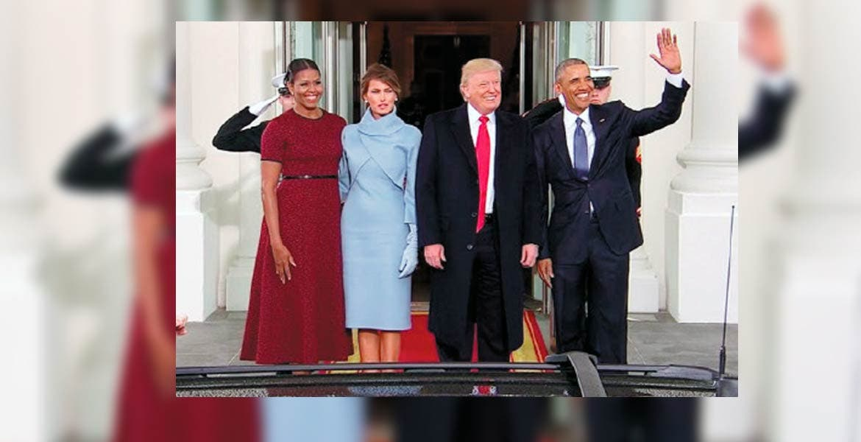 Para recordar. Uno de los más queridos junto a uno de los más odiados: Obama y Trump; negro y blanco.