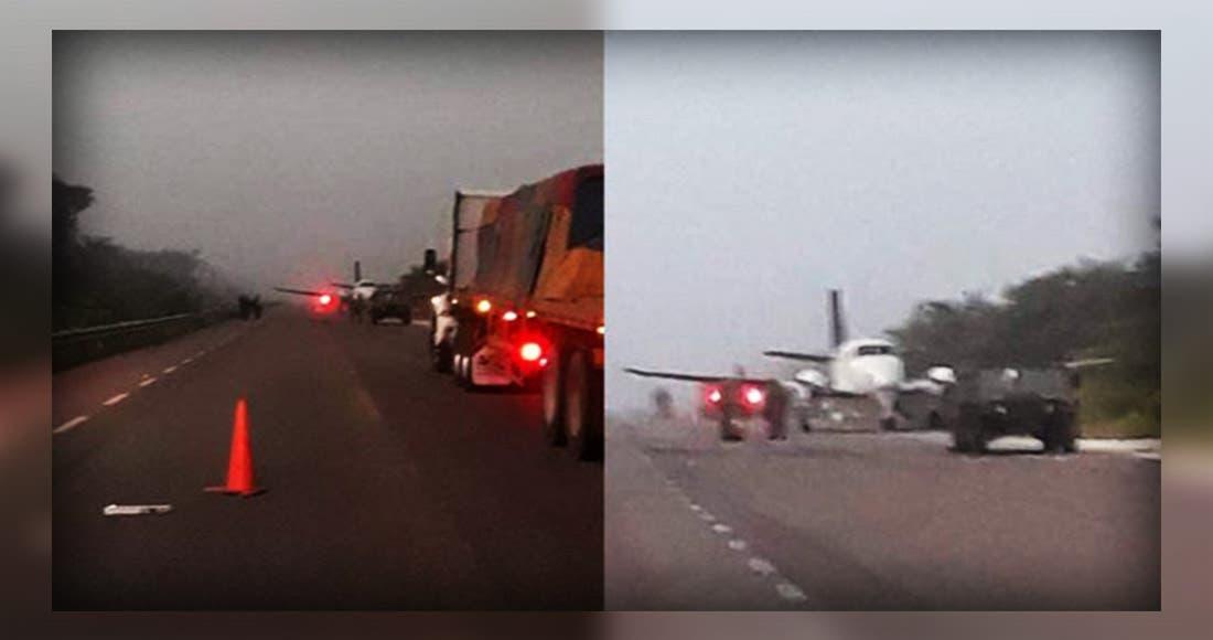 Una avioneta que transportaba droga aterriza en Quintana Roo