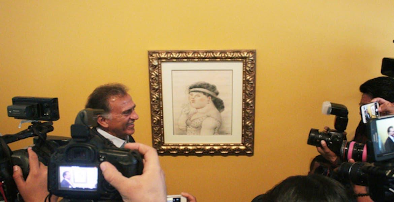 Yunes inaugura exposición en Veracruz con obras decomisadas a Duarte