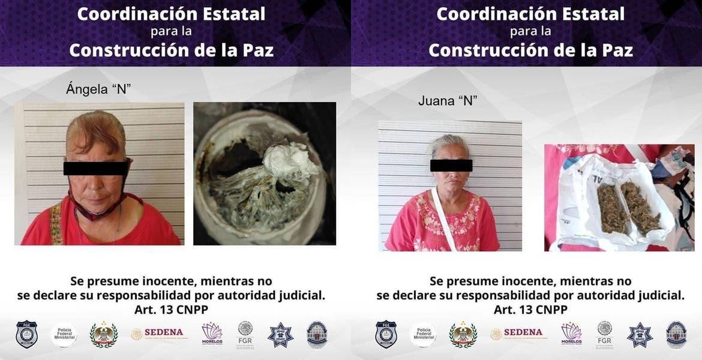 Abuelitas pretendían ingresar heroína y marihuana al Cereso de Atlacholoaya