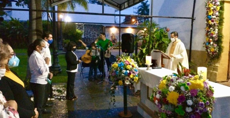 Así celebraron en Acapantzingo a San Miguel Arcángel, de Cuernavaca