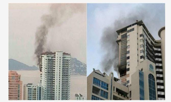Alerta fuerte incendio en condominio de Acapulco