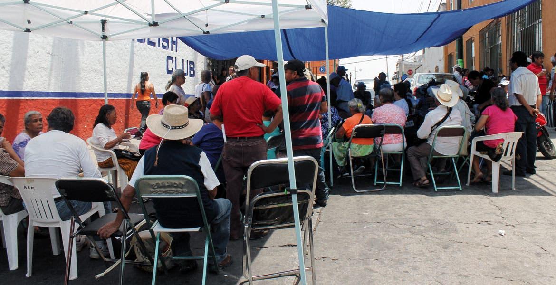 Protestas. El plantón instalado afuera de la Tesorería municipal fue levantado.