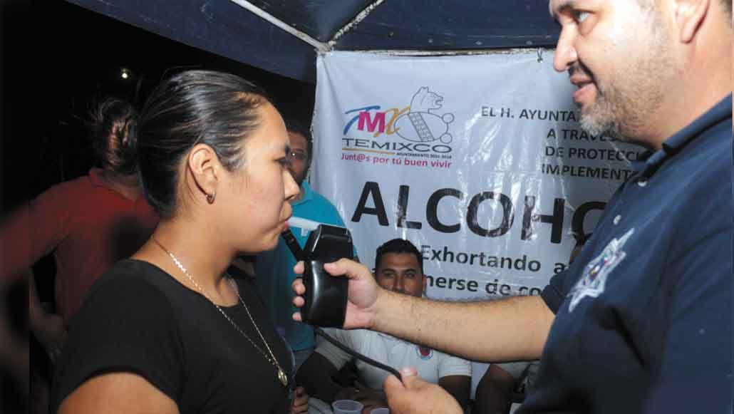 Programa. Para los festejos patrios, los encargados del Programa de Alcoholimetría tuvieron jornadas de supervisión en la avenida principal, y en algunas colonias de Temixco.