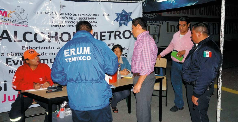 Operativo. Este fin de semana, el programa Alcoholímetro no será suspendido en Temixco para seguridad de turistas y vecinos del lugar