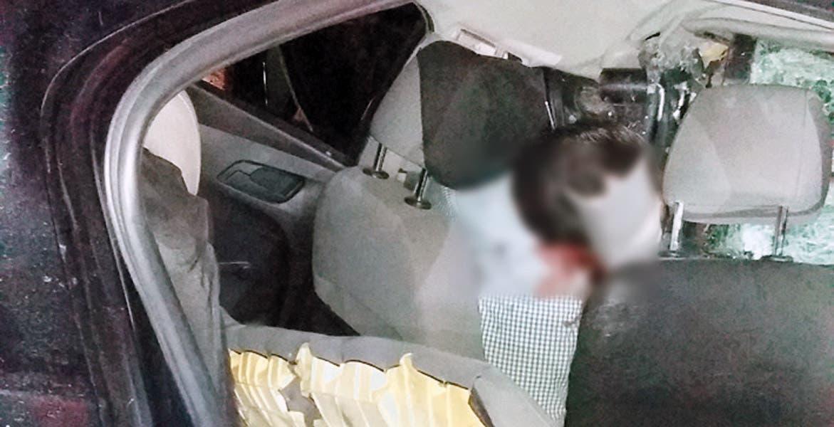 El juez cívico de Puente de Ixtla, Sergio Jair Morales, murió al destrozar su auto Chevrolet-Sonic, color negro