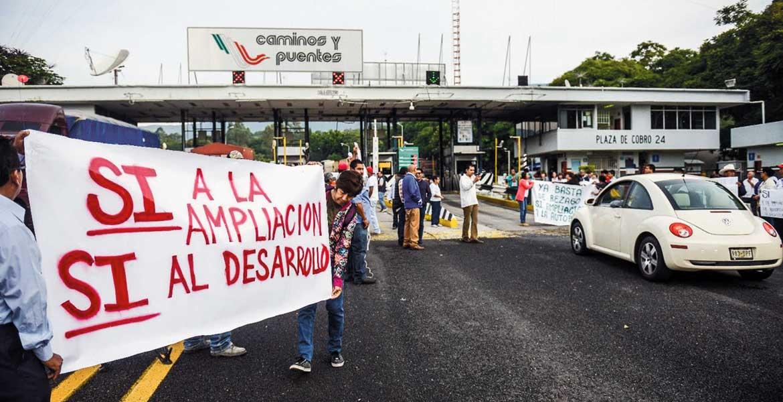 Manifiestan respaldo. Habitantes de Tepoztlán señalaron la importancia de que se culmine la ampliación de la carretera La Pera-Cuautla.