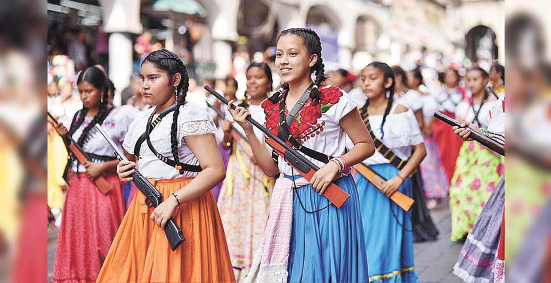 Conmemoran jóvenes el 109 aniversario de la Revolución Mexicana