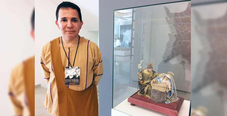 Artesano. Marco Antonio Miranda Razo tiene 34 años dedicado a la cerería tradicional, desde que inició en su natal Salamanca, Guanajuato.
