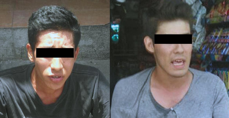 Los estudiantes de la universidad México Anahuac, Jonathan Mondragón Ramírez y Luis Fernando Granadosfueron detenidos en la colonia Teopanzolco, de Cuernavaca, tras asaltar una tienda de pinturas