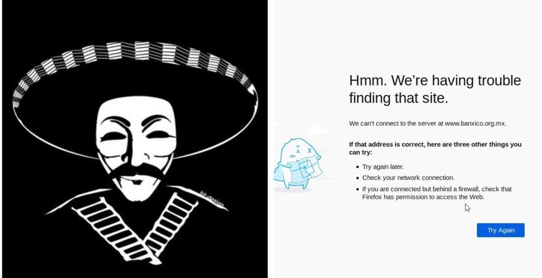 Primero fue Condusef y ahora, Anonymous hackea sitio web de Banxico