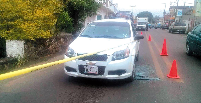 Atentado. Ricardo Pozos Ávila murió tras ser emboscado a balazos, cuando viajaba en su auto por la avenida Nacional, en el poblado de Oaxtepec, en Yautepec.