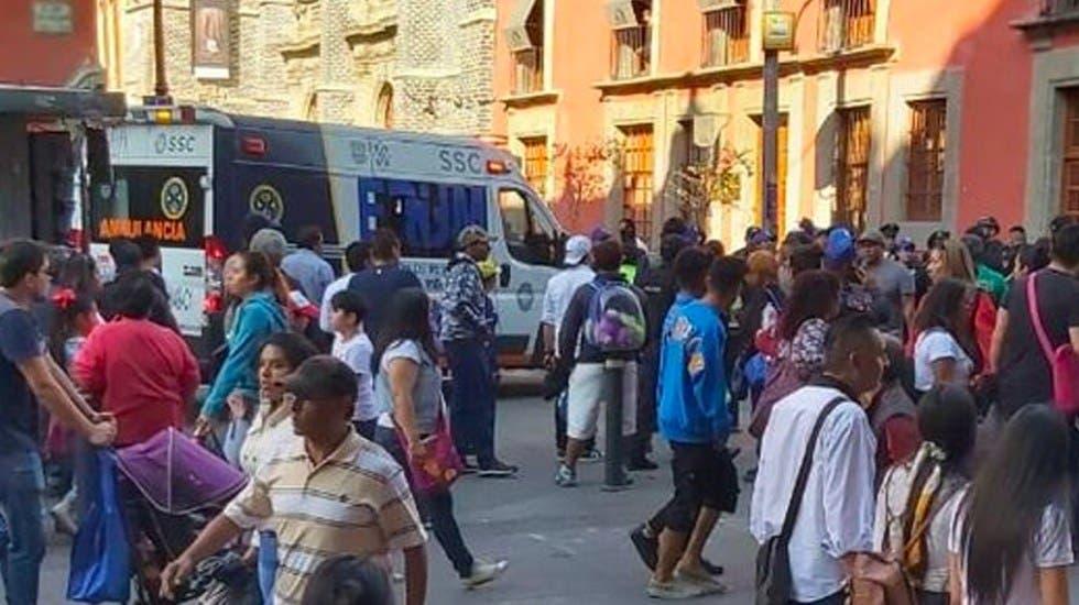 Se registra balacera afuera de Palacio Nacional deja varios heridos