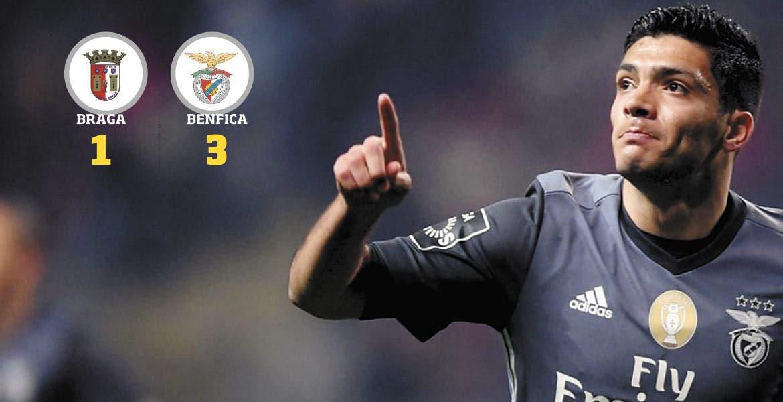 Raúl Jiménez reencuentra el gol con Benfica de una forma impresionante