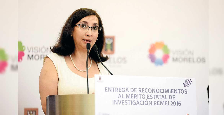 Gestión. Brenda Valderrama, titular de Innovación, dijo que la dependencia tuvo pláticas con el Conacyt para lograr más investigadores.