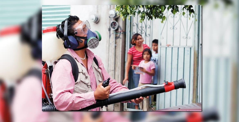 Prevención. Personal de vectores deposita abate en lugares que acumulan agua, foco de reproducción del mosco del dengue.