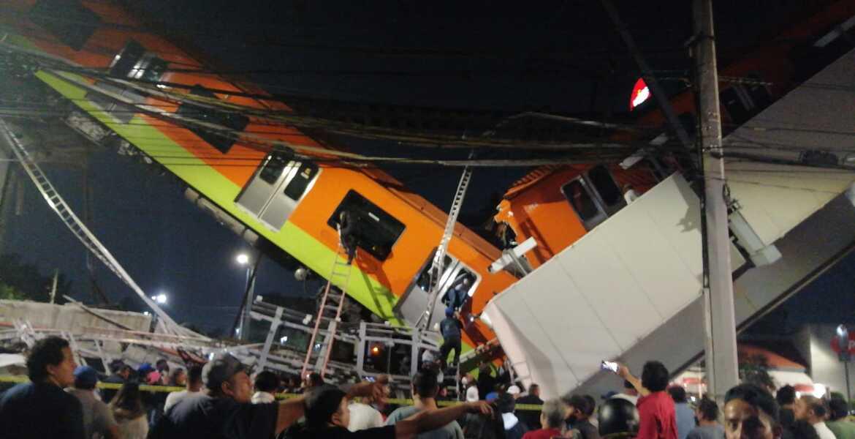 Caen vagones de la Línea 12 del Metro en CDMX; hay 80 heridos