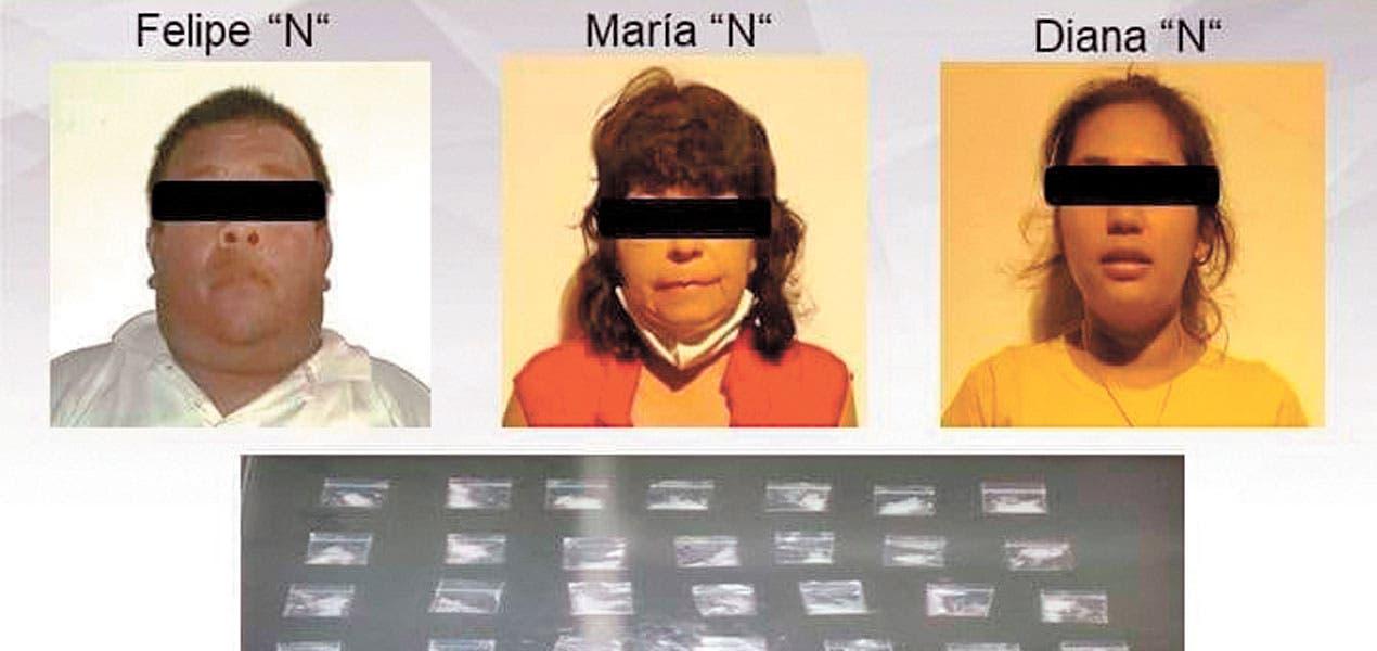 Caen 3 en Morelos con más de 30 dosis de droga