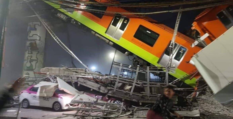 Trece muertos por colapso de vagones del metro en CDMX